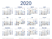 2020 Done For You Marketing Calendar